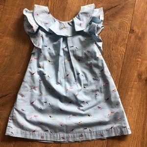 Oshkosh kids blue ruffle swimmer print dress 2T
